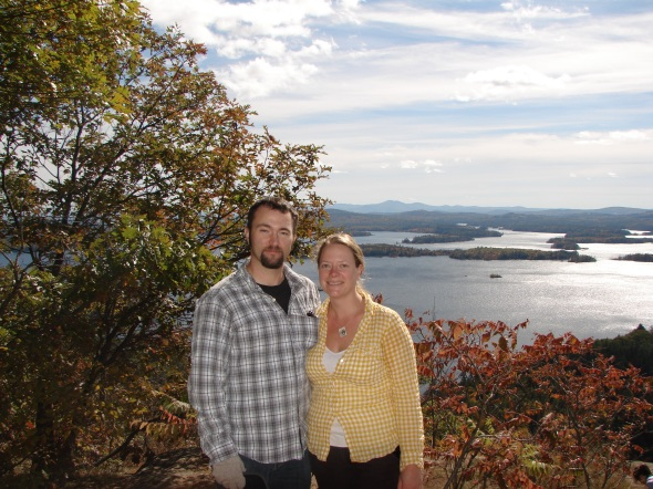 L&A looking over Squam Lake